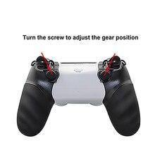 قبضة اليد حالة الزناد توقف و غطاء مقبض لسوني بلاي ستيشن 4 PS4 Dualshock 4 تحكم مقبض لعبة اكسسوارات
