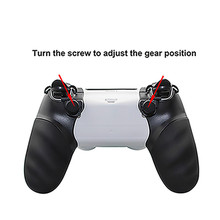 Hand Grip TriggerหยุดและGripสำหรับSony Playstation 4 PS4 Dualshock 4 Controllerเกมอุปกรณ์เสริม