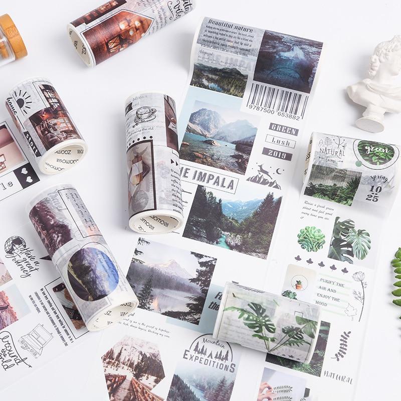 Summer Beach Cafe Washi Tape Adhesive Tape Diy Scrapbooking Sticker Label Masking Tapes