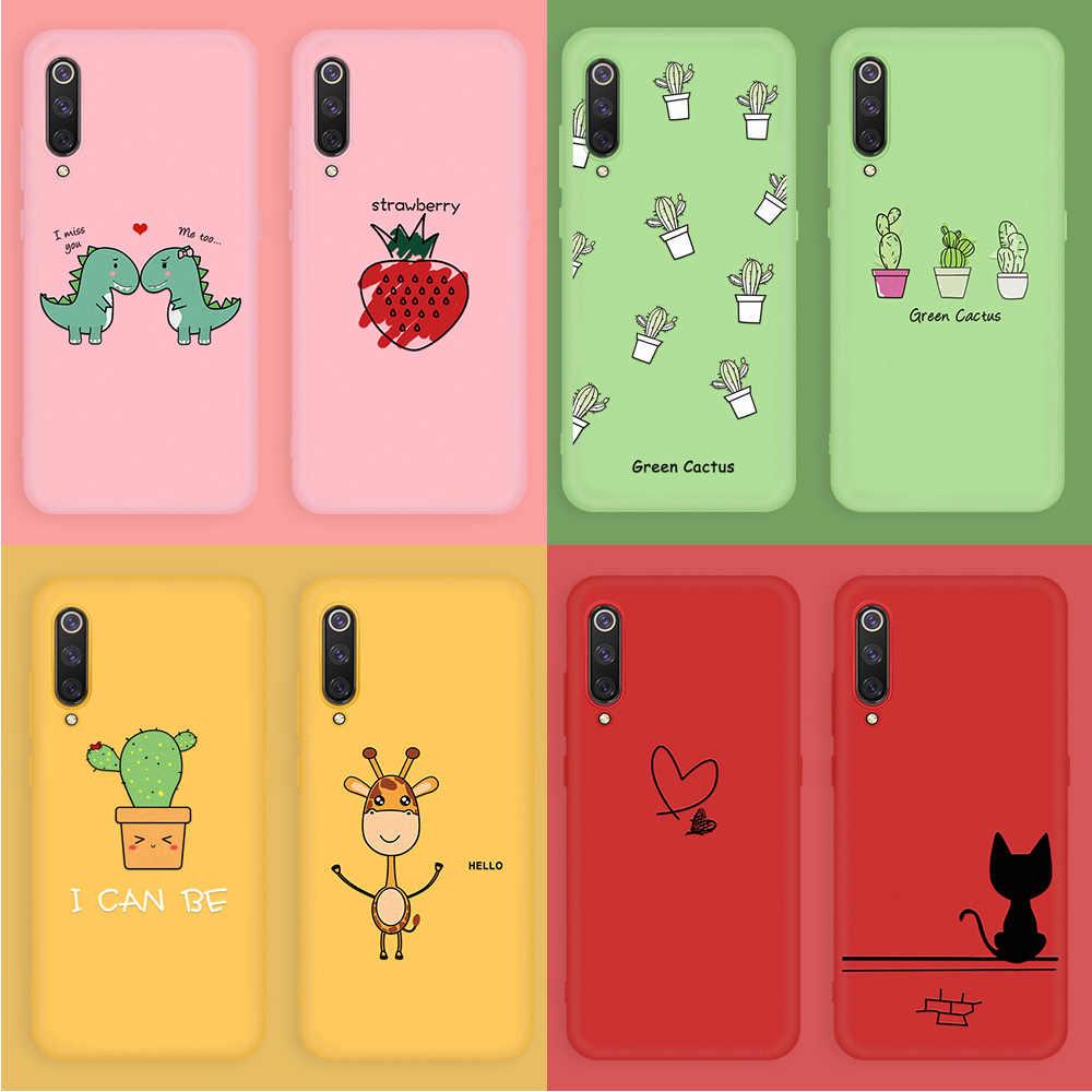 โทรศัพท์ Shell สำหรับ Xiao mi mi 9 SE 9T Pro 8 Lite สาวสี Candy TPU Case สำหรับ Xiao mi CC9 CC9E mi A3 Lite A2 mi 9T ซิลิคอนนุ่ม