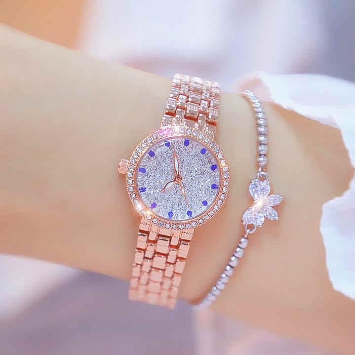 Bs Nieuwe Hot-verkoop Horloge Waterdicht Geïmporteerde Beweging High-End Horloge Custom Volledige Diamant Vrouwelijke Horloge FA1598