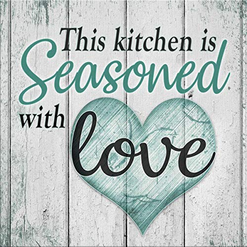 This Kitchen is Seasoned with Love Diamond Painting Kits,5D Arts Craft for Home Family Quotes Wall Decoration New Beginner 12x12
