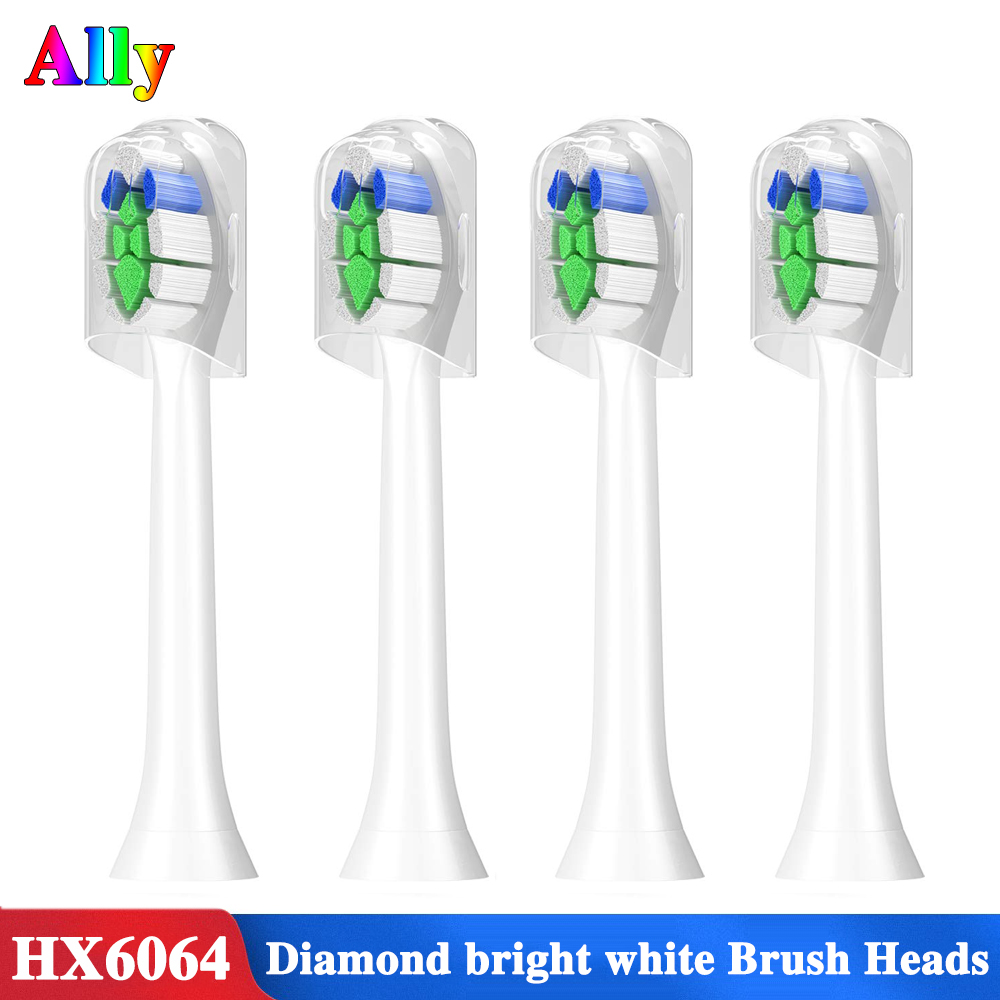 For Philips Sonicare W2 Optimal White HX6063/67 Replacement Brush Heads Diamond Clean White 3 6 9 Series Electric Toothbrush