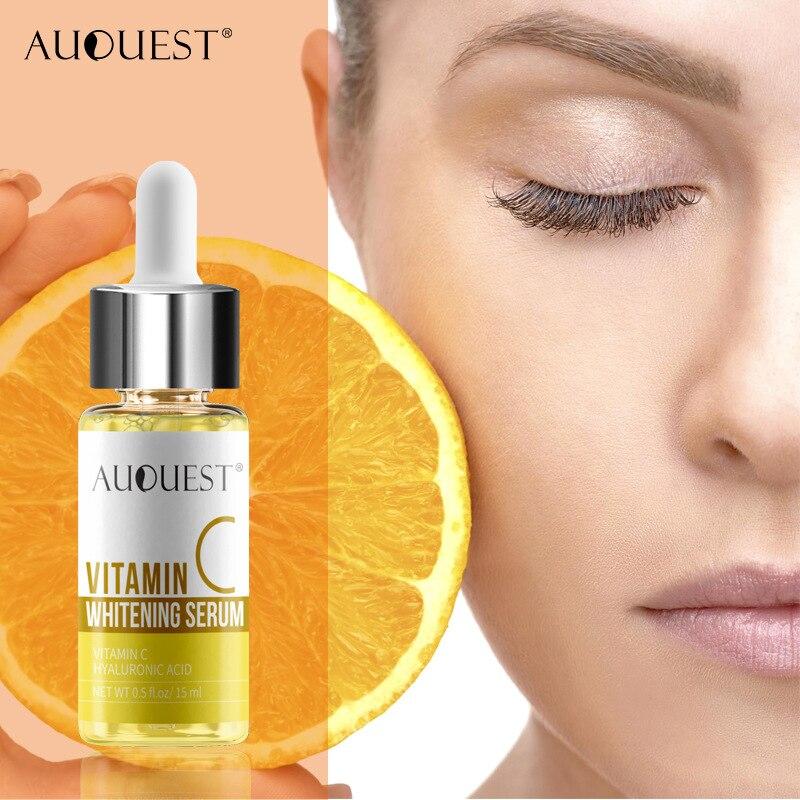 AUQUEST suero de vitamina C para el cuidado de la piel, esencia blanqueadora hidratante, limpiador crema facial, manchas de pecas, antienvejecimiento|Suero| - AliExpress