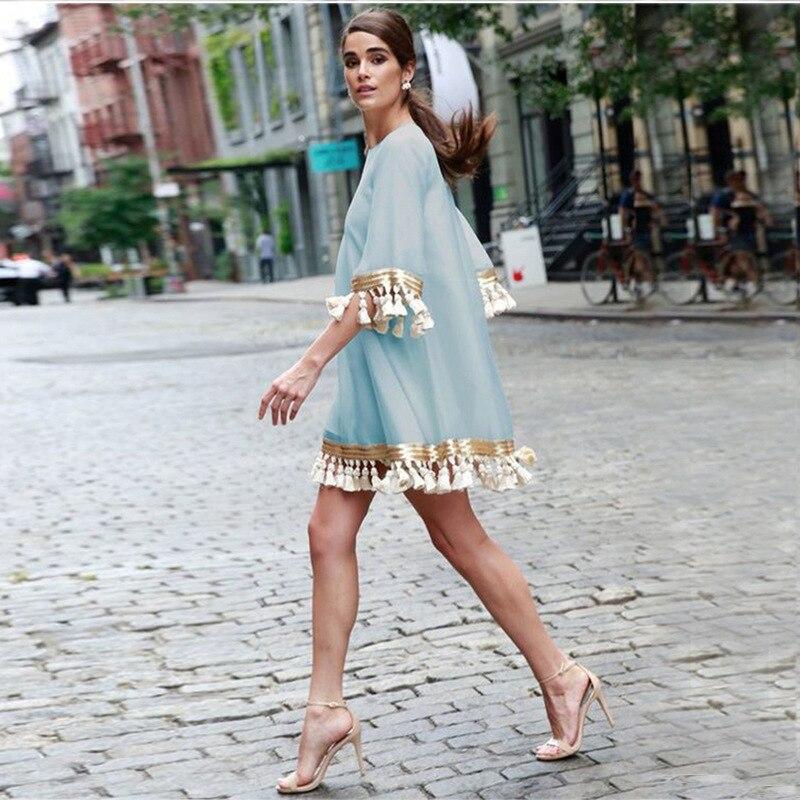 Round Neck 3/4 Sleeve Plus Size Cocktail Dress For Cocktail Party Loose Women Dress Vestidos De Coctel Cortos Elegantes 2019