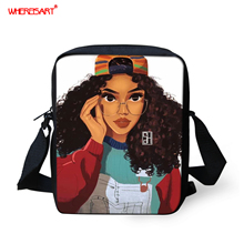 WHEREISART Casual Women Handbag Afro Girls Cross-body Bags For Ladies Small Shoulder Bags Girls Messenger Bags Mochilas Infantil