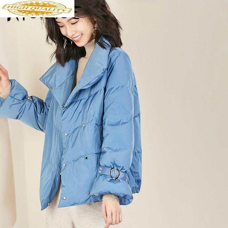 White Duck Down Jacket Women Korean Down Coat Winter Coat Women Clothes 2019 Puffer Jacket Warm Parka VIM18D5163 YY2000