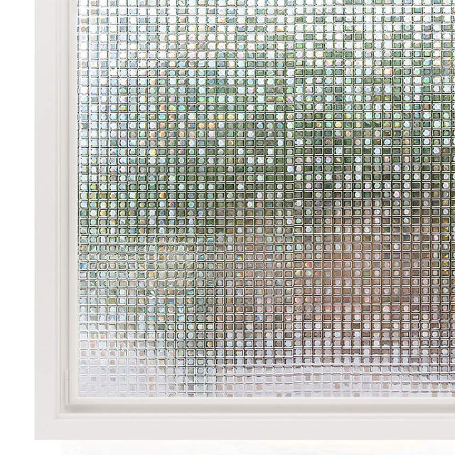 Decorative 3D Window Cling Film Designs Vinyl No Glue Window Privacy Film Static Cling Stained Glass Window Sticker 1