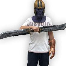 1 1m długość obosieczny nóż Cosplay Thanos Endgame Gauntlet Thanos Thanos akcesoria kostium gadżety na Halloween tanie tanio LISM Other Kategoria miecz broń Diecast 6 lat Unisex