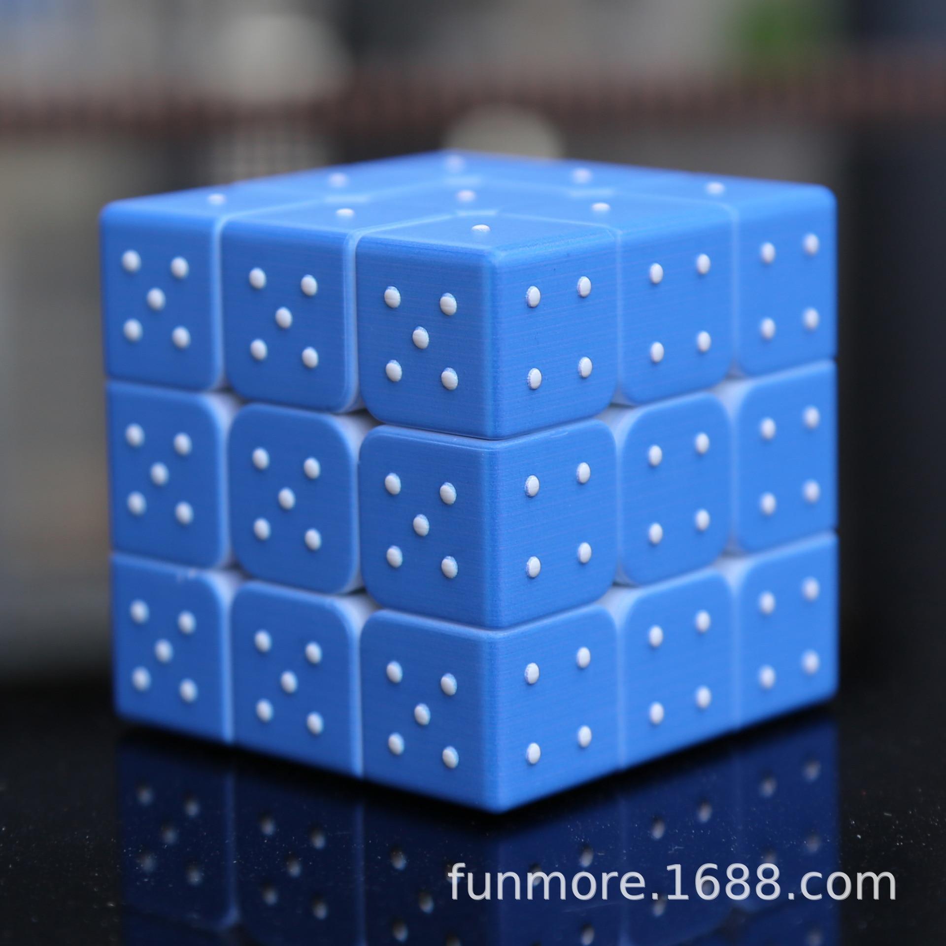 3x3x3 3D Adult Speed Twist Three-dimensional Emboss Sudoku Magic Cube Math Brain Game Blind Braille Toy
