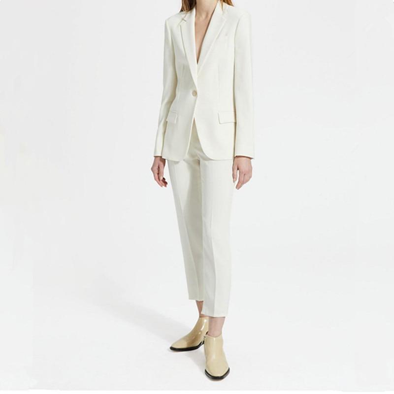 Women's Suit Ladies Fashion Casual Suit Two-piece Suit (jacket + Pants) Ladies Slim Single Button Professional Wear Custom