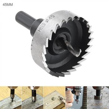45mm HSS Hole Saw Cutter Drill Bits High Speed Steel for Pistol Drills / Bench Magnetic Air Gun