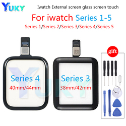 100% Tested Touch Glass For Apple Watch Series 38mm 40mm 42mm 44mm For Watch Series 1 2 3 4 5 LCD Display Touch Digitizer Glass