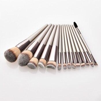 4-14pcs Makeup Brushes Set For Foundation Powder Blush Eyeshadow Concealer Lip Eye Make Up Brush With Bag Cosmetics Beauty Tools 3