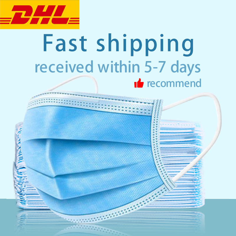 Non-woven Masks Top Filtering Effect Men's Masks Dustproof And Pollen-proof Masks Breathable Three-layer Nursing Masks 50 Pieces