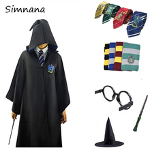 Cosplay Costumes Gryffindor Slytherin Ravenclaw Hufflepuff Potter Clothing Hermione Cos Magic Robe Cape For Kids Adults