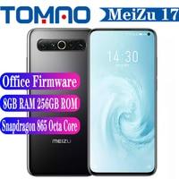 Original Meizu 17 8GB RAM 128GB 256GB ROM Cellphone 5G Smartphone Octa Core Snapdragon 865 4500mAh 30W Fast Charing 64MP Camera 1