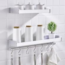 Non-perforated kitchen rack wall-mounted condiment seasoning shelf kitchen utensils oil salt sauce vinegar storage rack