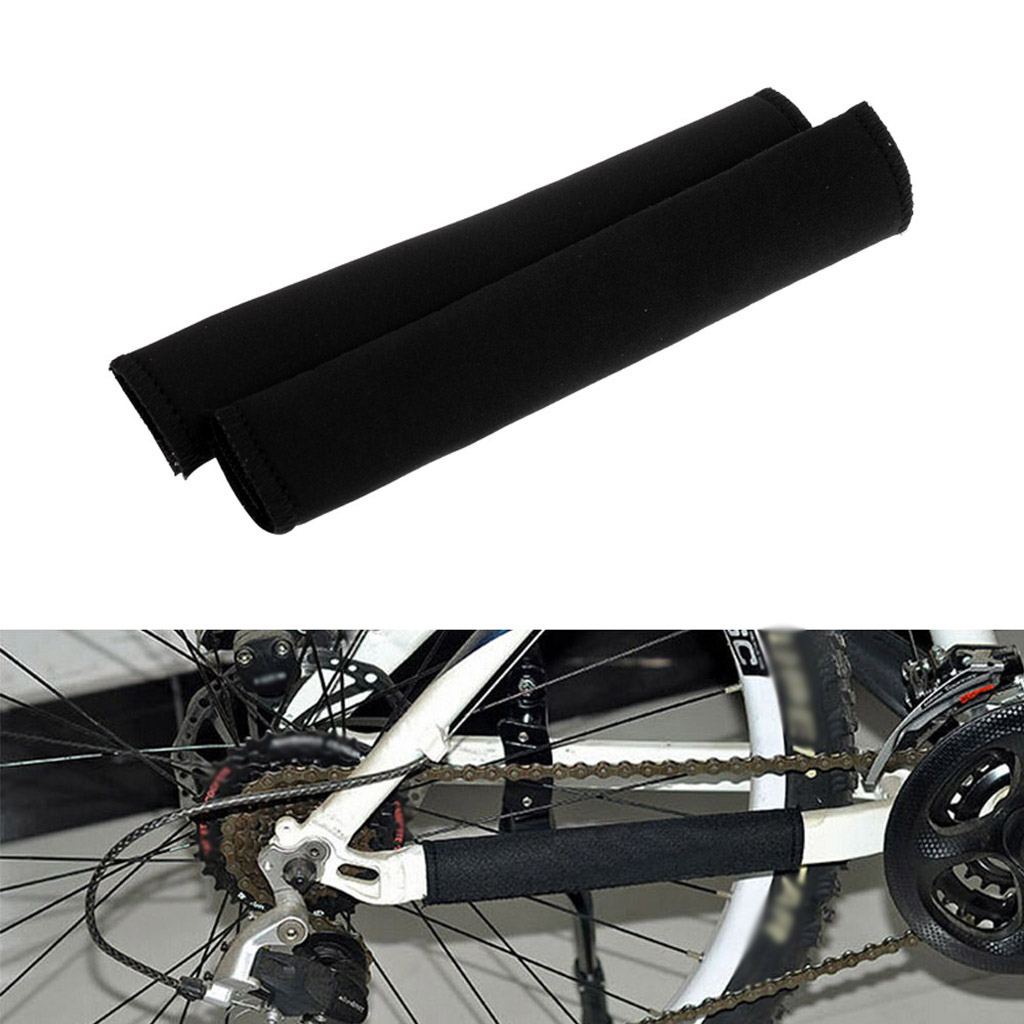 Bicycle Chainstay Protector Bike Chain Bash Guard Black Cover Cycling Neoprene