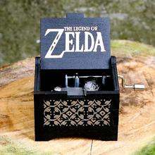Музыкальная шкатулка, черная деревянная музыкальная шкатулка, ручная работа, Zelda Musica Caja Bella y Bestia, рождественский подарок для мальчика/девочки, подарок на день рождения