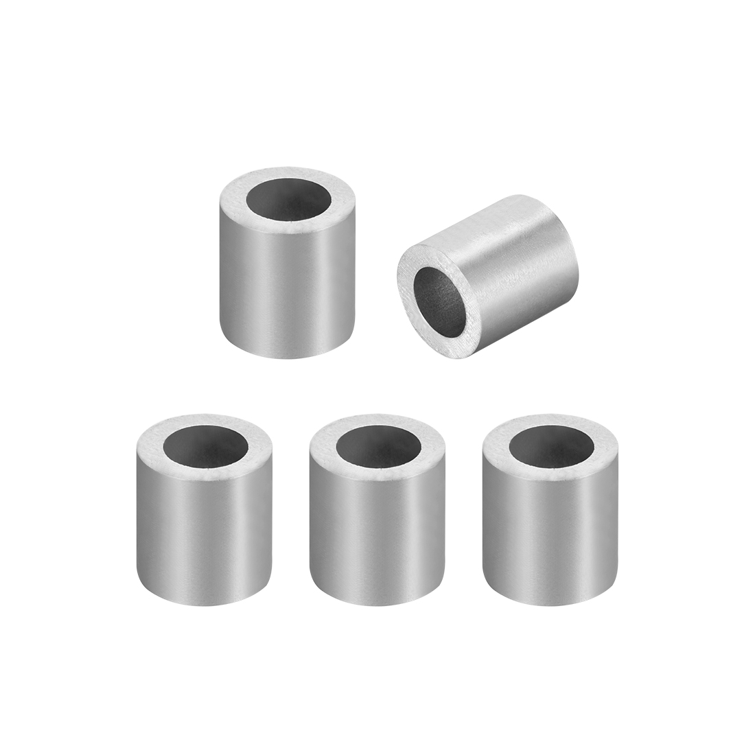 Uxcell 6.5mm 1/4-inch Cable Wire Rope Aluminum Sleeves Clip Crimping Loop 5pcs
