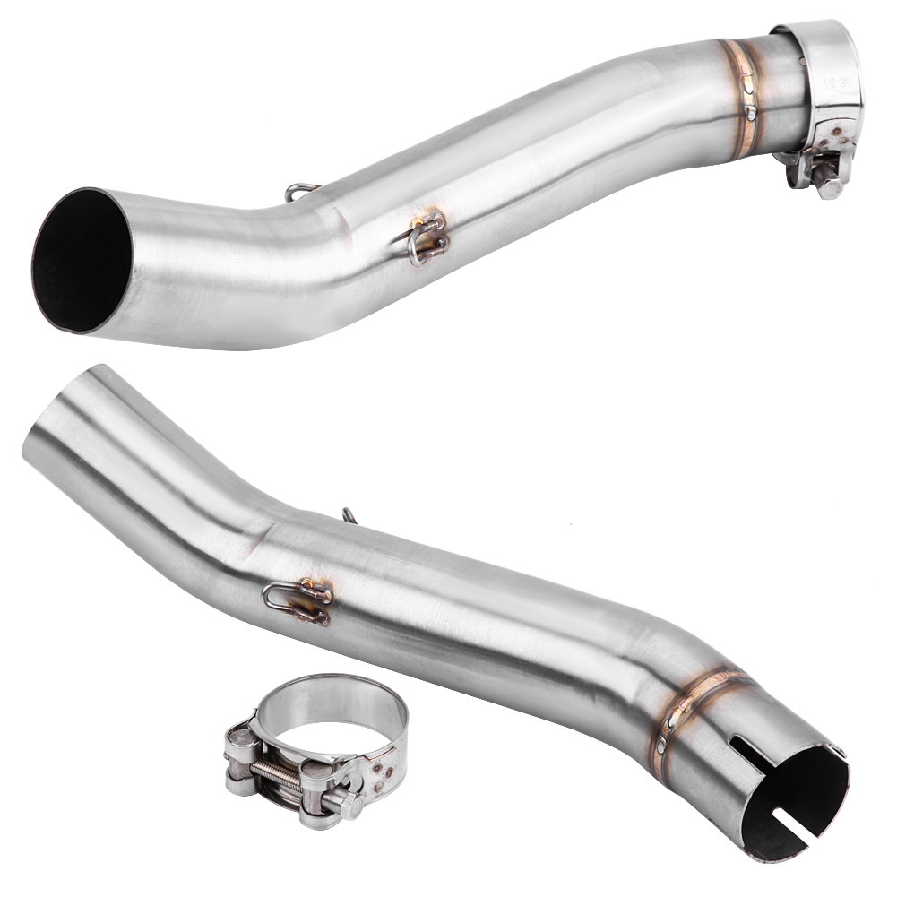 Motorcycle Stainless Steel Straight Exhaust Middle Pipe Link Connect anti-corrosion for <font><b>Benelli</b></font> <font><b>BN302</b></font> <font><b>TNT300</b></font> 2014-2018 Silver image