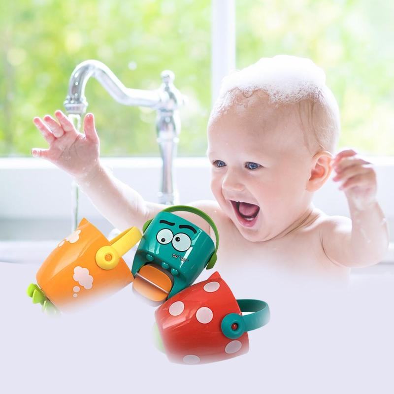 3pcs Mini Baby Leaky Bucket Skillful Manufacture Superior Quality Water Spraying Tool Plastic Toddler Shower Bath Toys
