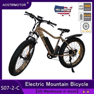 AOSTIRMOTOR Electric Bike Fat Tire Electric Mountain Bicycle Beach Bike Cruiser Bike Booster Ebike 750W 48V 10.4Ah Battery