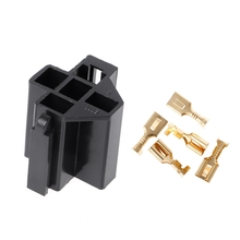 40A 5 Pin Relay Connector Socket with 5 x 6.3mm Terminals Car Truck Vehicle Relay Case Holder Drop Ship Support недорого