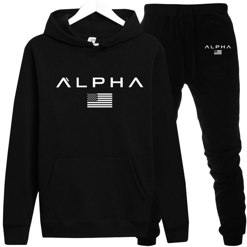 New Alpha Series Hoodies Mens Spring Fashion Brand Pullover Solid Color Sportswear Pullover Men Sportswear Winter Mens Warm Coat