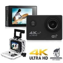 цена на Goldfox 100% New H9 Action Camera Ultra HD 4K 25fps WiFi 2.0 170D Underwater Waterproof Helmet Video Recording Camera Sport Cam