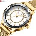 Curren Роскошные, брендовые Relogios Feminino кварцевые часы женские часы со стразами циферблат с ремешком из нержавеющей стали классные женские часы