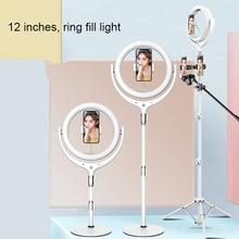 Кольцевой светильник с регулируемой яркостью 30 см/12 дюймов для внешней фотографии светодиодный кольцевой светильник для селфи с держателем для телефона для видеосъемки студийного микрофона