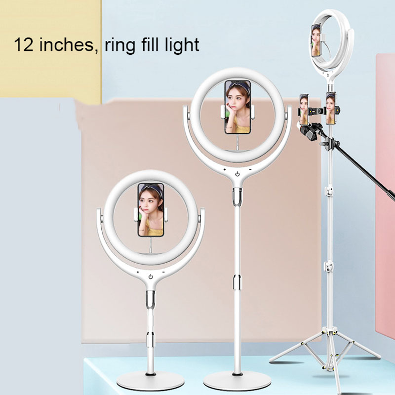 NEW Dimmable Ringlight 30cm 12inch Outer Photography LED Selfie Ring Light With Phone Holder For Video Live Studio microphone