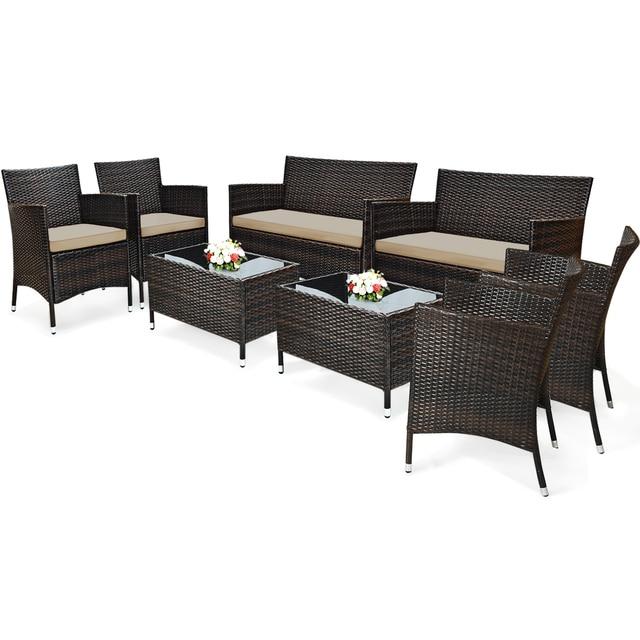 Costway 8PCS Patio Furniture Set  3