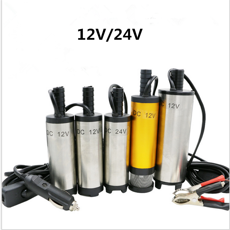 DC 12V /24V Submersible Pump 38mm 1PC Water Oil Diesel Fuel Transfer Refueling Tool  Water Pump High Pressure