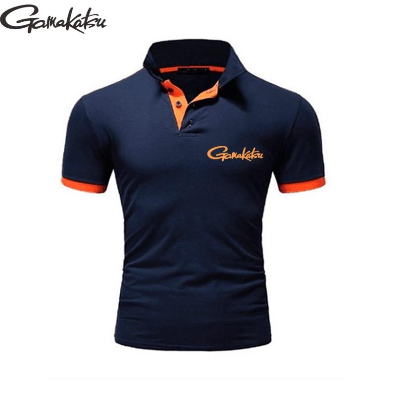 Gamakatsu Summer Clothes Fishing T Shirt Men Breathable Outdoor Sport Clothing Fishing Short Sleeve Polo Shirt Daiwa Tshirt Golf