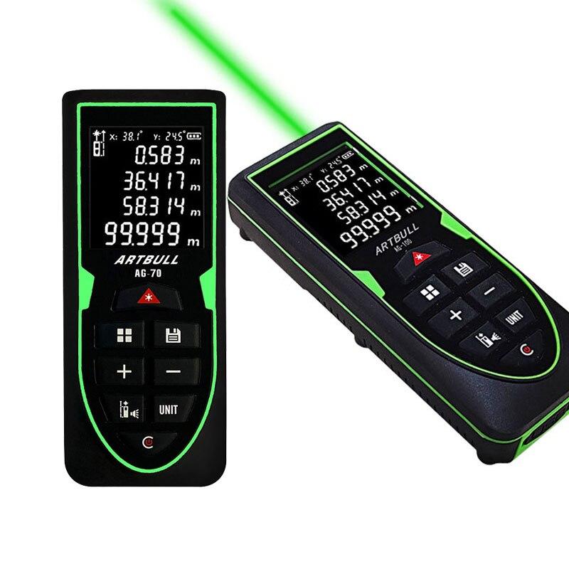 Лазерный дальномер ARTBULL 100 м, 70 м, 50 м, лазерный измеритель расстояния, лента, инфракрасный дальномер, измерительный инструмент