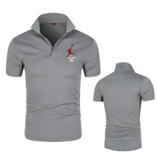 The Latest Men's Cotton Breathable Business Polo Shirt For Spring And Summer Of 2021, Solid Color Fashion Printing,