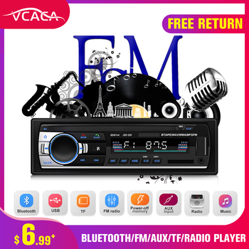 VCACA Bluetooth Autoradio Car Stereo Radio FM Aux Input Receiver SD USB JSD-520 12V In-dash 1 din Car MP3 Multimedia Player image