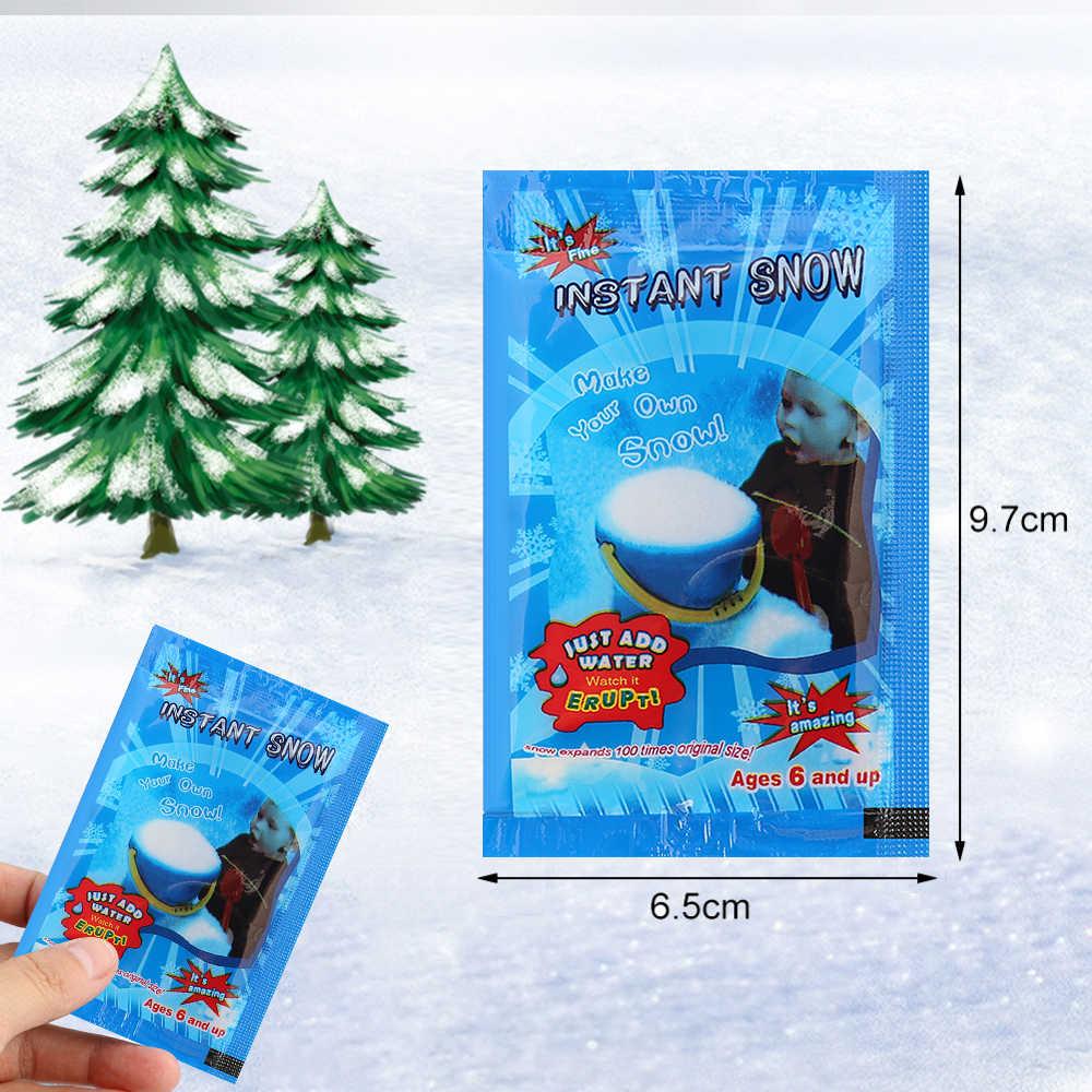1pc Gefälschte Magie Instant Schnee Künstliche Schnee Festival Party Dekorationen Für Weihnachten Hochzeit Künstliche Schneeflocken Weihnachten