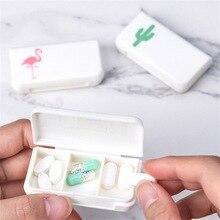 3 решетки таблетки коробка Фламинго кактус, лист Pillbox диспенсер медицинские коробки дозирования медицинский набор мини-органайзер чехол