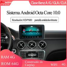 Para android 10.0 benz clase a/g/gla/cla 2013-2015 9 ntntg 4.5 sistema pantalla táctil gps navi multimídia 4g wifi