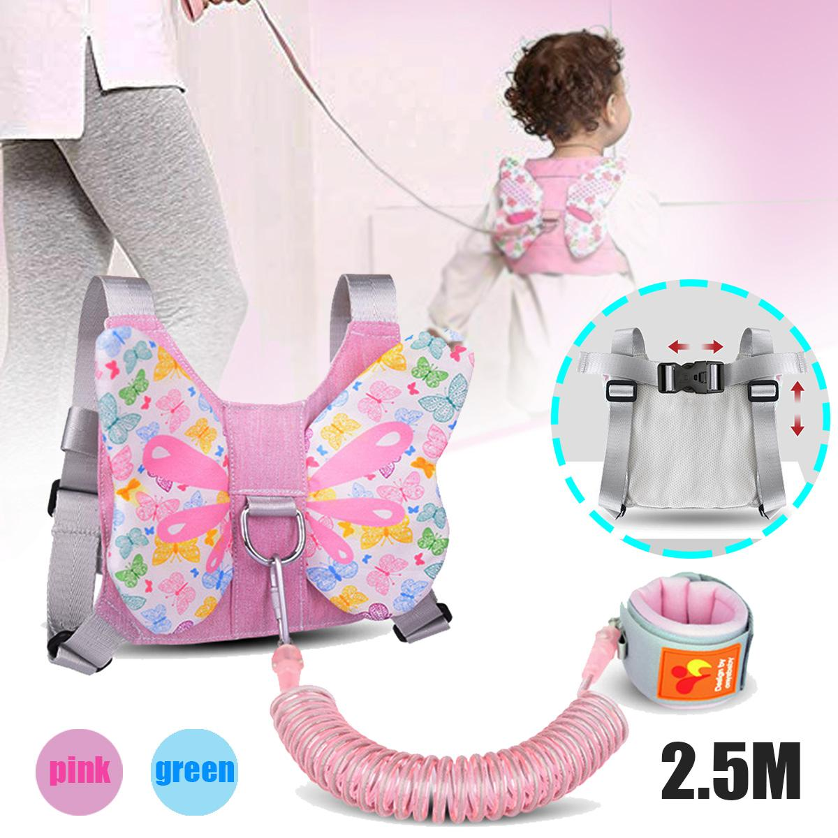 Anti Lost Wrist Link Wings Shaped Back Pack Toddler Leash Safety Harness Baby Strap Wristband Children Walking Hand Belt 2.5M