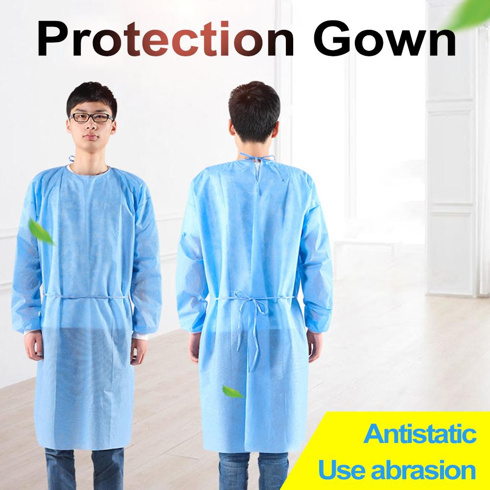 10pcs Disposable Gowns Protective Man Gown Dustproof Disposable Gown Coverall Women Disposable Coverall Anti-fog Anti-particle
