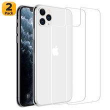 Vidro temperado de volta para o iphone 11 12 pro max se 20 caso de proteção de vidro pelicula no iphone x xs max protetor de tela traseira vidro