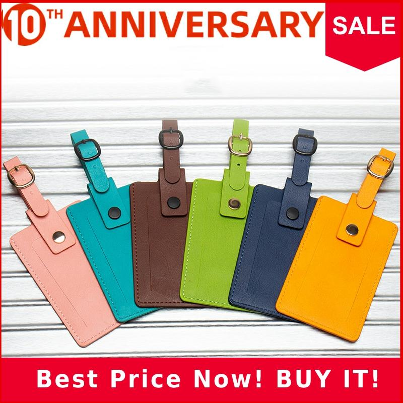 Zoukane PU Leather Luggage Tag Holder Label For Suitcases Safe Lock Custom Personalized Travel Accessories ZSLT07