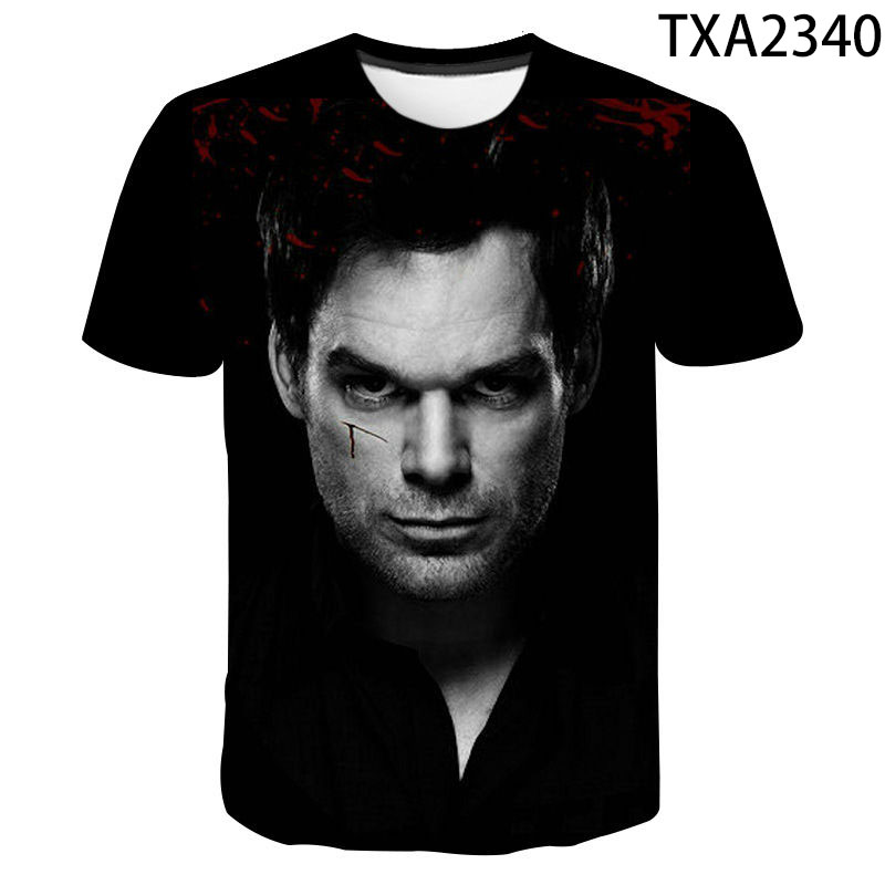 2020 New Fashion Summer Dexter T-shirt  Men Women Children 3D Printed T Shirts Tops Boy Girl Kids Summer Short Sleeve Cool Tees