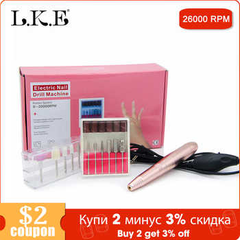LKE Complete set Electric Manicure Portable USB interface electric nail polisher 20000 speed high-efficiency Nail Polisher Tool - DISCOUNT ITEM  29% OFF All Category