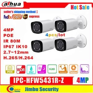 Image 1 - Dahua 4MP Ip Camera Poe IPC HFW5431R Z Vervangen IPC HFW4431R Z 2.8 12Mm 4 Stks/partij Varifocale Gemotoriseerde Len H.265 / H.264 IR80M